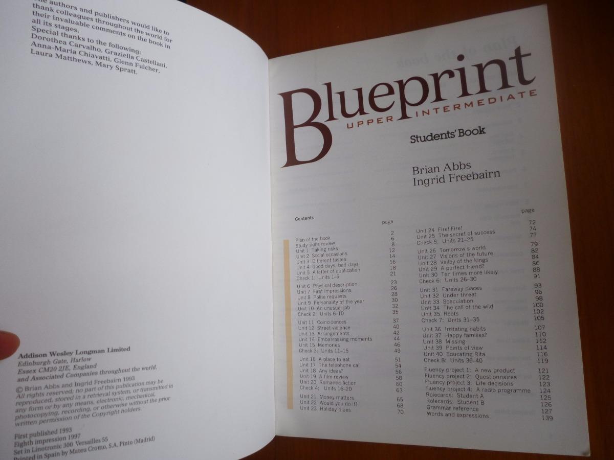 Blueprint upper intermediate student book palermo 26000 en blueprint upper intermediate student book palermo cargando zoom malvernweather Gallery