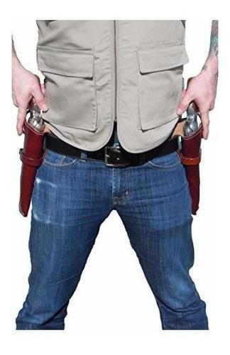 bluestone safety western funda de revólver de cuero para 4 y