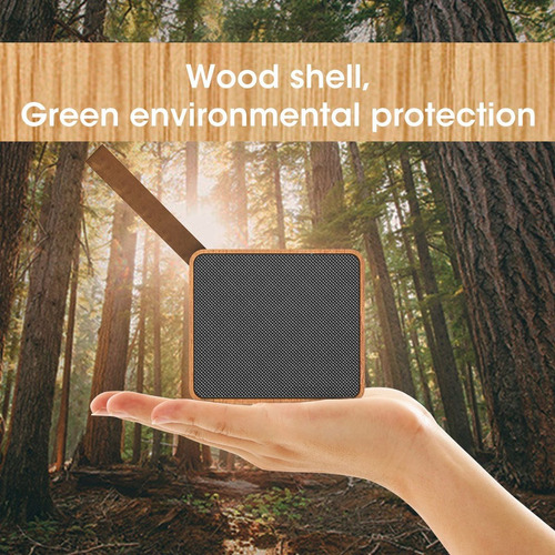 bluetooth 4.2 altavoces de madera, portátiles wireles touch