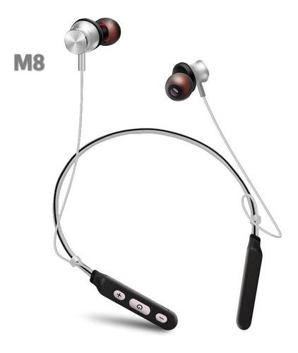 bluetooth auricular m8 neckband música deportiva
