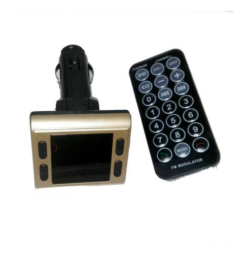 bluetooth con modulador fm para auto control usb micro sd