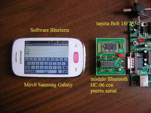 bluetooth hc-06 serial rs232 control remoto desde móvil!