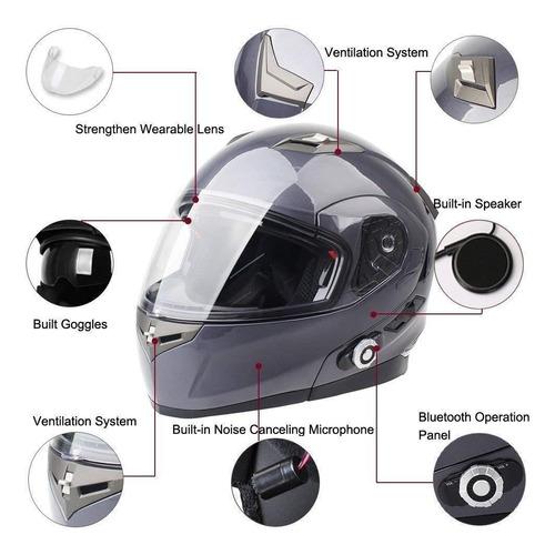 bluetooth motocicleta cascos altavoces integrado modular fl