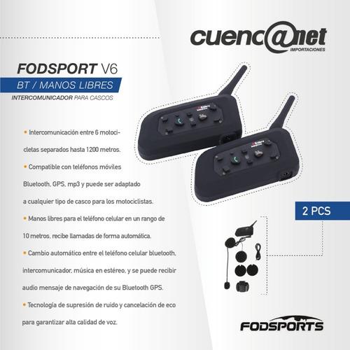 bluetooth motorbike para cascos intercom headsets par