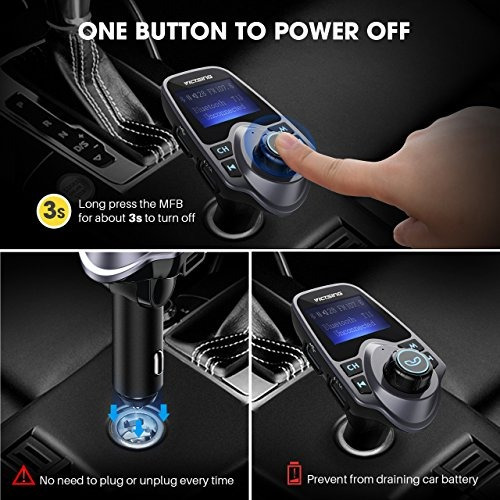 bluetooth para automóvil soporte sd tf usb cargador llamadas