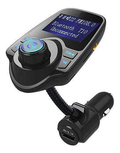 bluetooth reproductor t10 de carro usb cargador transmisor
