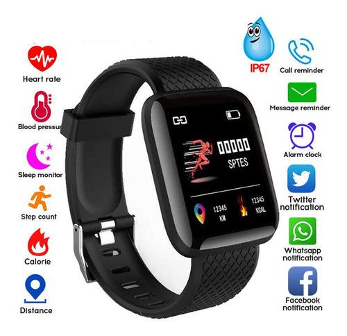 bluetooth ritmo cardíaco presión arterial reloj inteligent