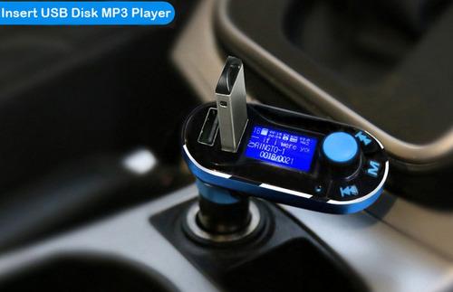 *bluetooth tramisor fm, manos libre, mp3, doble cargador usb