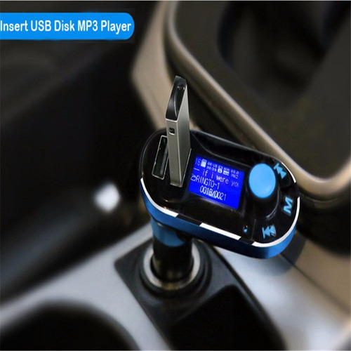 *bluetooth tramisor fm, manos libre, mp3, doble cargador usb