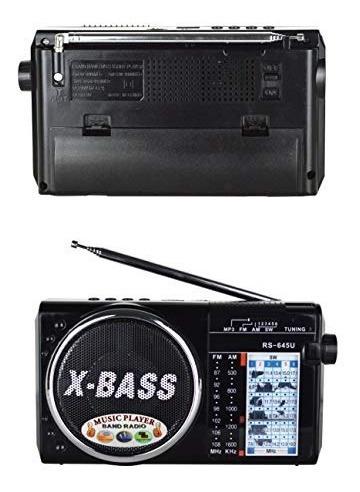 bluevalley  radio portátil am fm sw + reproductor mp3 grabad