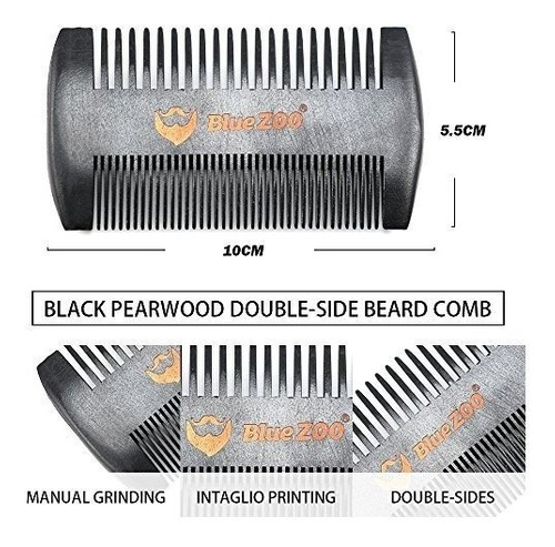 bluezoo 7pcsset kit de recorte y barba para hombrespapamarid