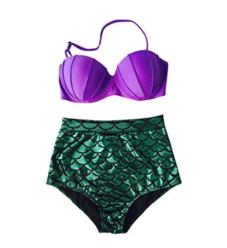 blugibedramsh bikini de cintura alta para mujer con purpurin