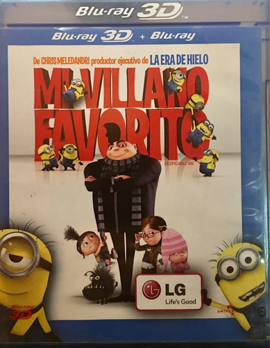 bluray 3d mi villano favorito minions usado incompleto