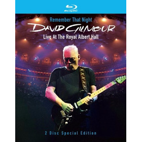 Bluray: David Gilmour, Remember That Night **encargo**