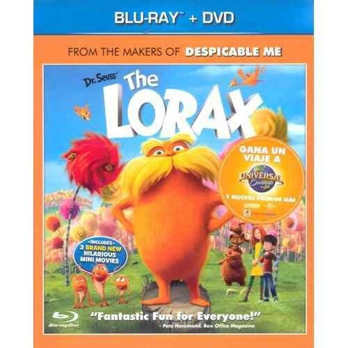 bluray+ dvd el lorax slipcover incluye 3 cortometrajes nueva