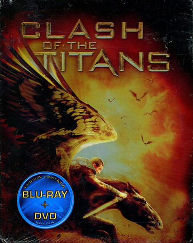 bluray + dvd furia de titanes steelboook ( clash of the tita