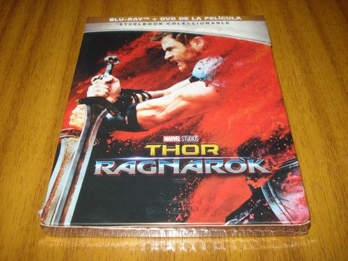 bluray+dvd thor / ragnarok (nuevo y sellado) caja metalica