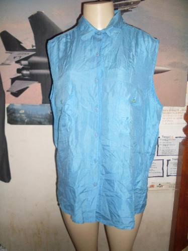 blusa 100%seda importada u.s.a. exc.estado - m linda!!