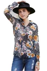 c8487f385a52 Blusas Flores Vintage en Mercado Libre México
