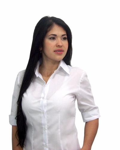 blusa 3/4 dama en tela de dacron