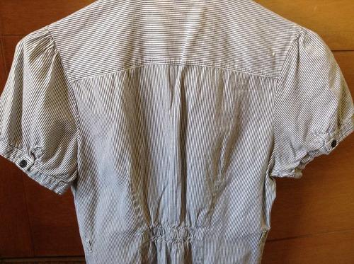 blusa a rayas manga corta talla s