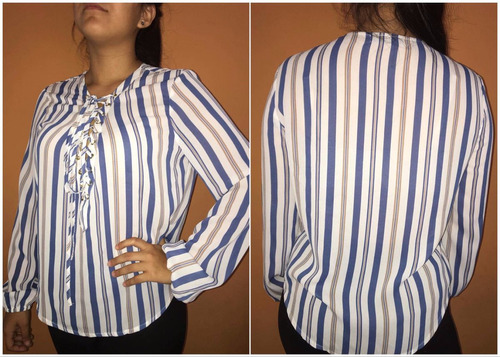 blusa a rayas true blue