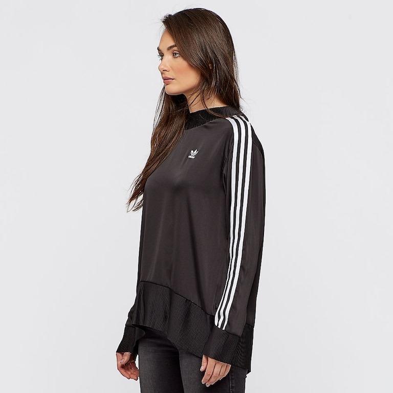 4463c59ee Blusa adidas Originals 3 Stripes Sweatshirt Preta Feminina - R$ 199 ...