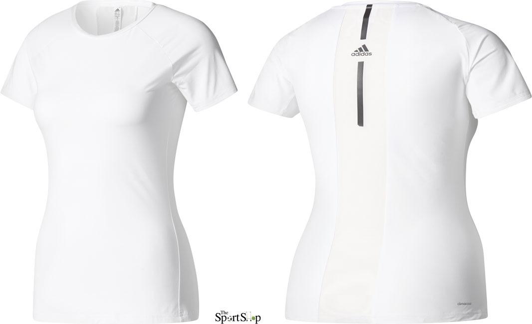 Blusa adidas Speed Tee Para Jugar Tenis Blanco