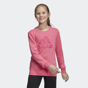 9c91a89f812 Blusa adidas Yg Mh Bos Crew Infantil Pink