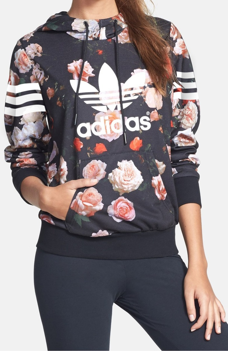 5c058fd53ac blusa agasalho moletom adidas marcas floral unissex. Carregando zoom.