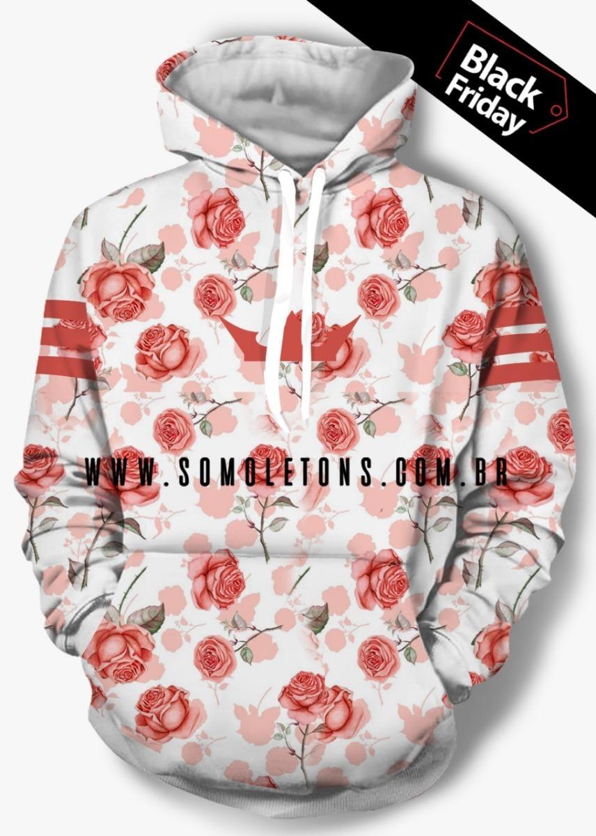 90cdc22ecf4 blusa agasalho moletom adidas marcas floral unissex-frete g. Carregando  zoom.
