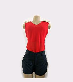 026818bc98 Blusa Alice Assimétrica Musselina Vermelha Com Ombreiras