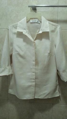 blusa americana marca selene vestir talla m  ivory formal