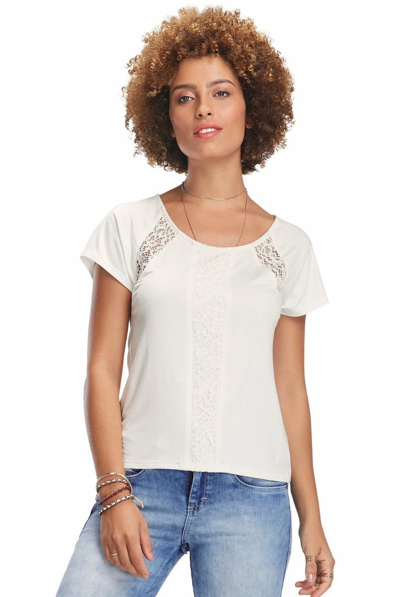 c33848575 blusa ampla c  renda malwee feminina. Carregando zoom.