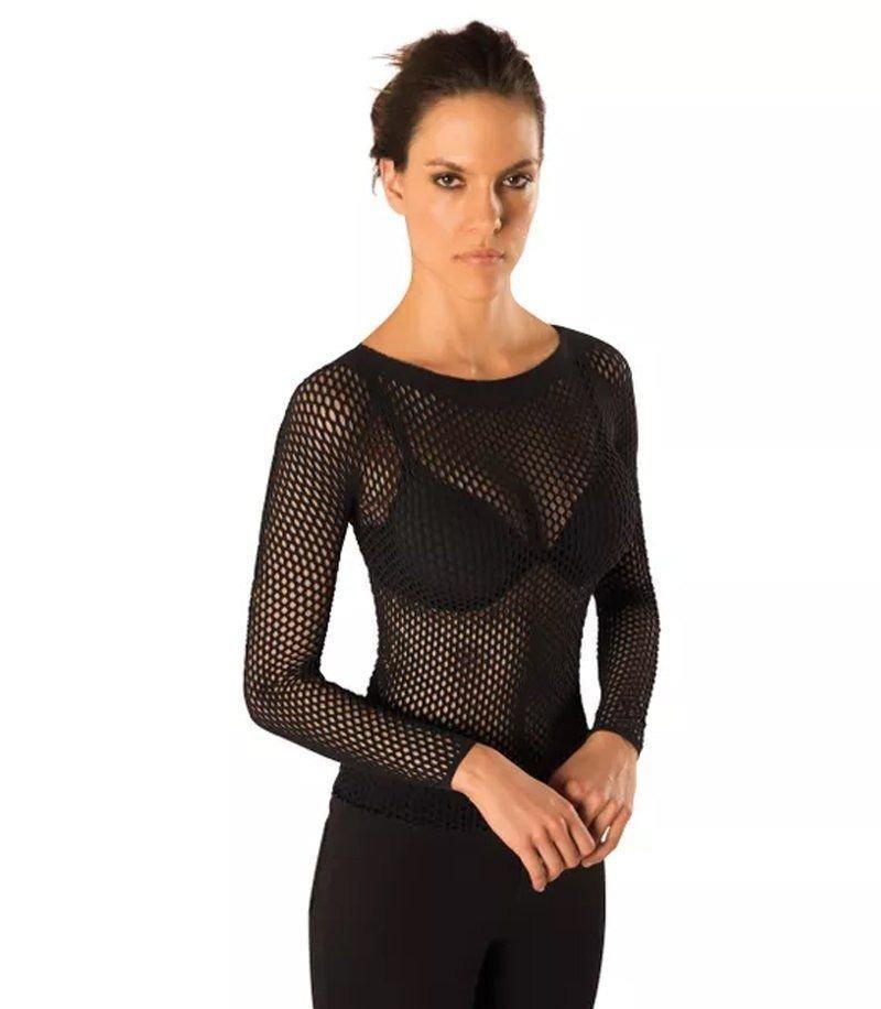 blusa arrastao manga longa segunda pele feminina lupo. Carregando zoom. 5017ab3be0d14