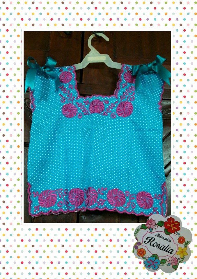 6e6aeadfd6 blusa azul bordada niña tipica hipil 100% yucateca algodon. Cargando zoom.