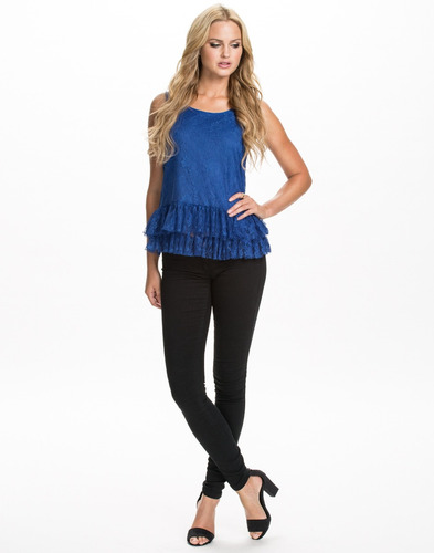 blusa azul lounge moda