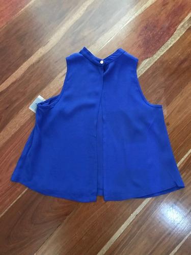 blusa azul rey studio f