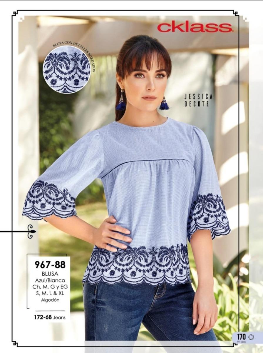 934deb83 Blusa Azul/blanco 967-88 Cklass/ Mundo Outlet - $ 250.00 en Mercado Libre