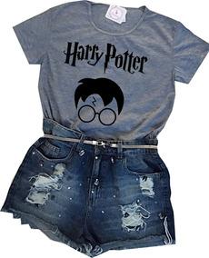 b6156f073d Blusa Baby Look Feminina Harry Potter Óculos Tumblr Barato!