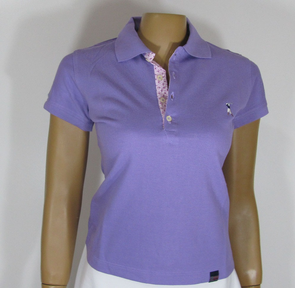 Blusa Baby Look Golfe Referência193 Tamanho G Lilás. amarela - R  130 1fa5a7bbe76d6