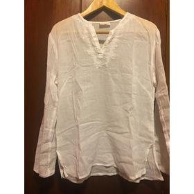 Blusa Bambula Blanca 100%algodon. Bordada. Manga Larga