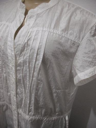 blusa bata branca tafetá tam g 46 usado bom estado