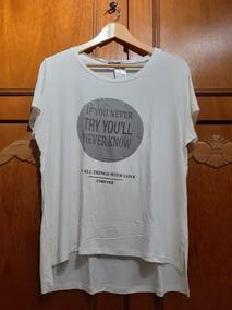 7efaa192c4 Blusa Bege Com Frase Da Marisa - Tamanho 48 P Plus Size