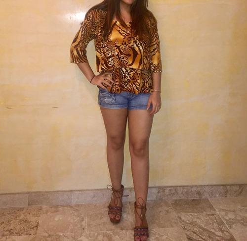 blusa belka animsl print comprada en republica dominicana