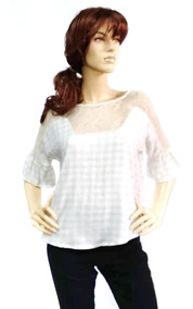 483553dd9a96 Blusa Bella Popelina Manga 3/4 Rose Fashion