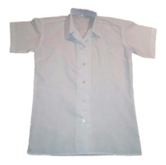 mejor servicio c8677 090f8 Blusa Blanca Escolar De Niña Manga Corta Oferta