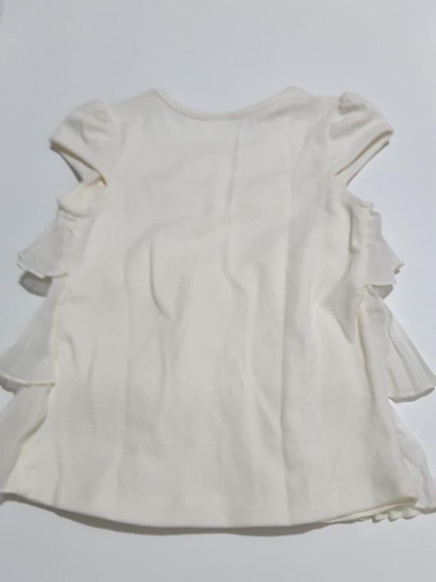 250eaa6f8 Blusa Blanca Para Niña Con Olanes Fiorella T3 - $ 300.00 en Mercado ...