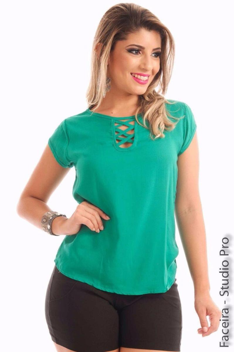 1c543a7416 Blusa Blusinha Viscose Lisa Estampa Promoção 10 Peças - R  150