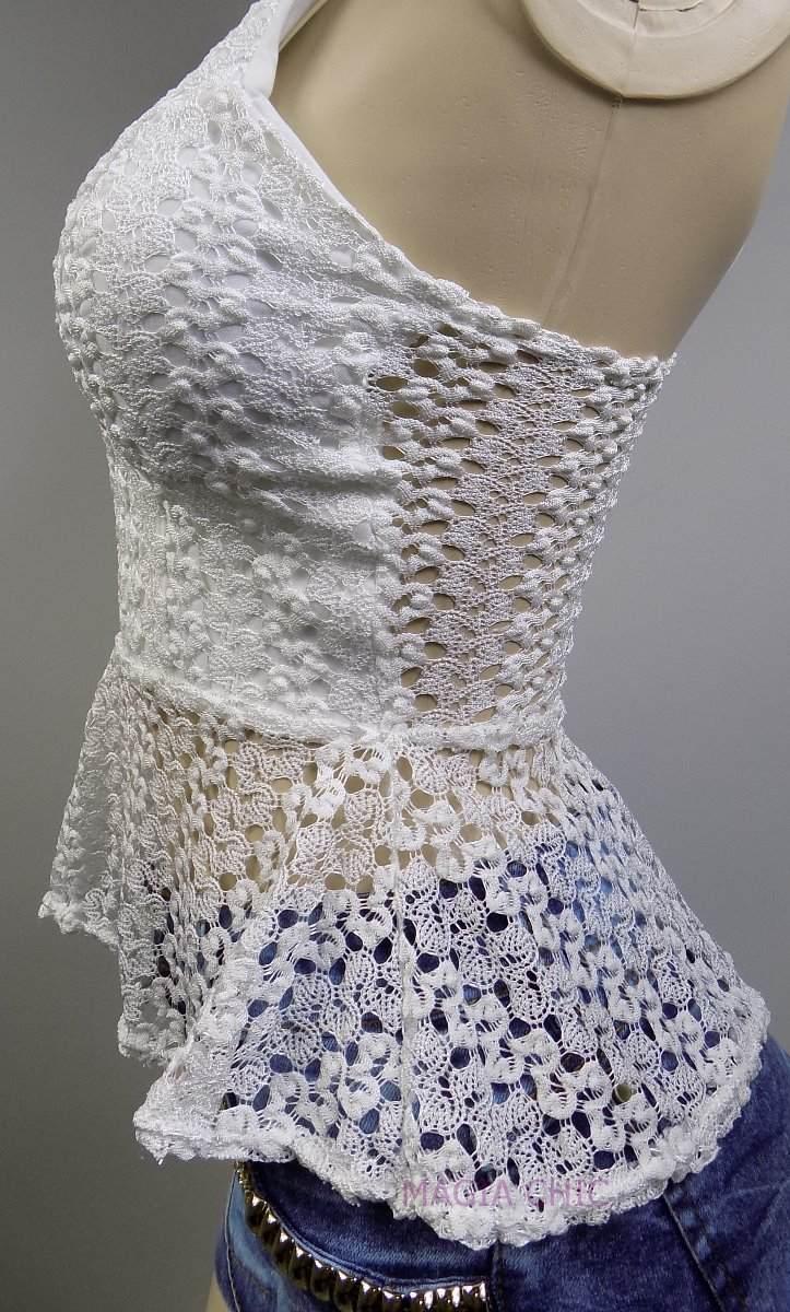 blusa blusinha viscose renda guipir regata feminina alcinha. Carregando  zoom. 606c110a727